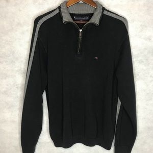 Tommy Hilfiger Quarter Zip Pullover Sweater